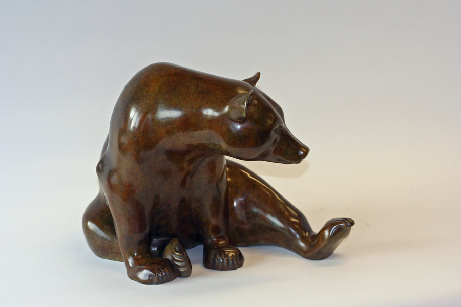 Seated Brown Bear